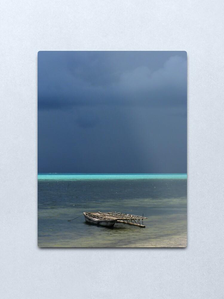 Alternate view of Canoe at Kimuta Metal Print
