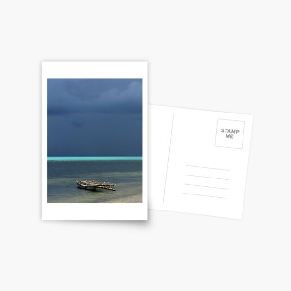 Canoe at Kimuta Postcard