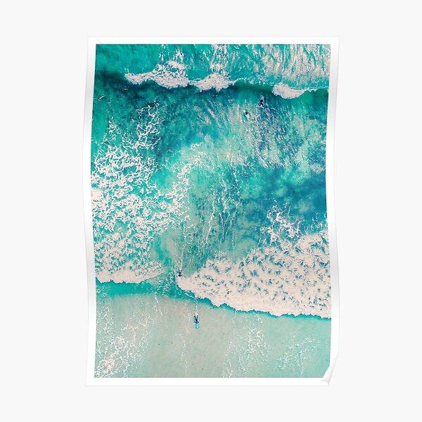 Ocean Waves Aerial Poster