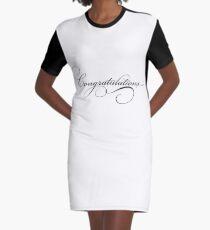congratulations Graphic T-Shirt Dress