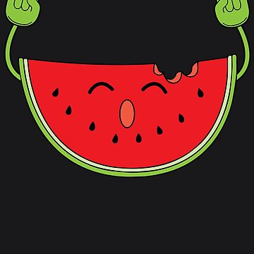 Dancing Watermelon Art   Cool Heart Beats For Fruits Gift by NBRetail