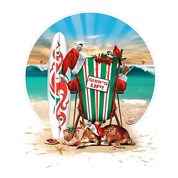 Surf's Up For Santa. by trueblue2