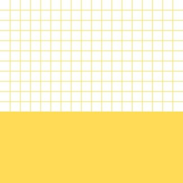 Mustard Yellow Grid On White Above Mustard Yellow by rewstudio