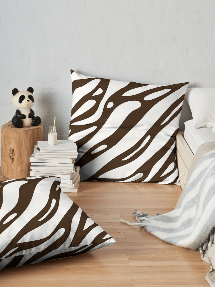 Alternate view of Black and white stripes. Floor Pillow
