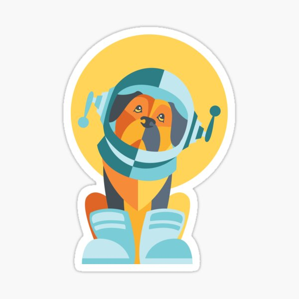 One Giant Leap for All Muttkind Sticker