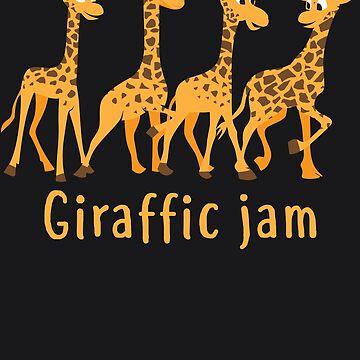 Giraffic Jam Art For Kids And Toddlers Who Loves Giraffes by NBRetail
