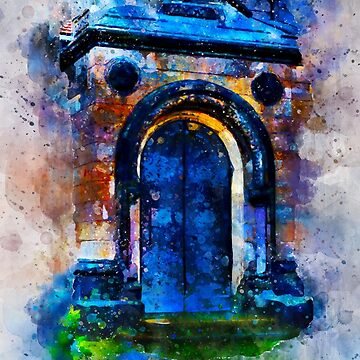 Colorful Old Door Watercolor painting  by NoraMohammed