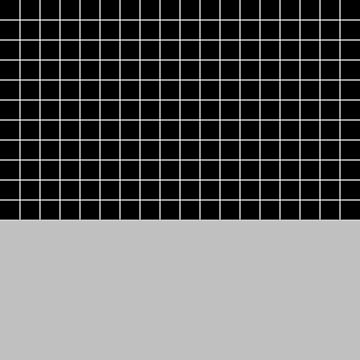 White Grid On Black Above Silver Gray by rewstudio