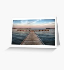 Pier at Millers Bay ~ HDR Greeting Card