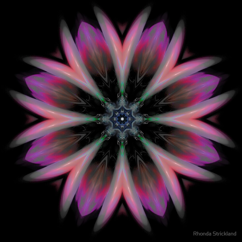 Galactic Boutonniere (fractal kaleidoscope & poem) by Rhonda Strickland