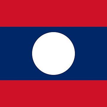 Flag of Laos by virginia50