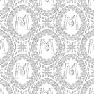 Letter M Black And White Wreath Monogram Initial by theartofvikki