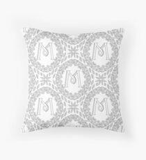 Letter M Black And White Wreath Monogram Initial Floor Pillow