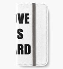 I Love His Beard Funny Gift Idea iPhone Wallet/Case/Skin