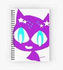 Purple kitten vetor art Spiral Notebook