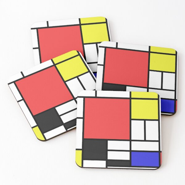 Mondrian Coasters (Set of 4)