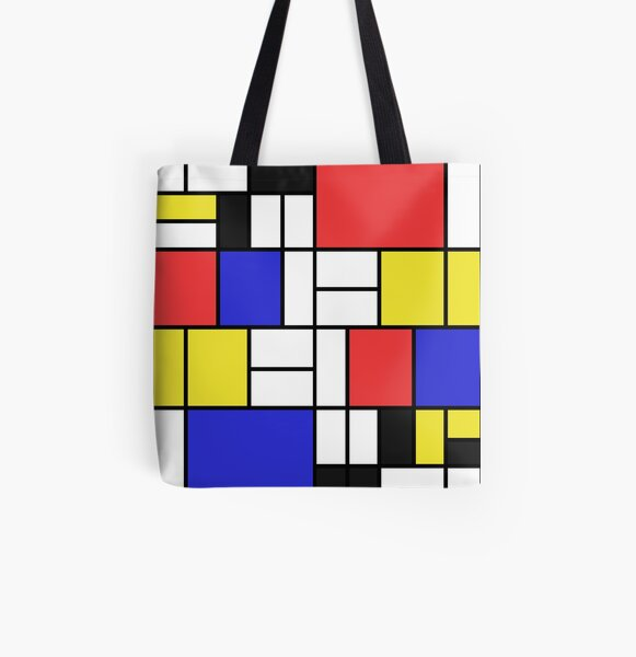 Mondrian #2 All Over Print Tote Bag