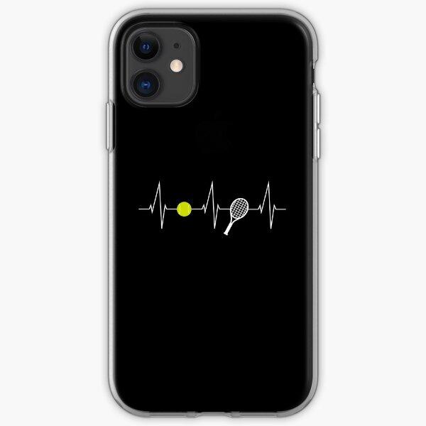 Tennis - tennis racket - tennis ball heartbeat heart rate - I love tennis iPhone Soft Case