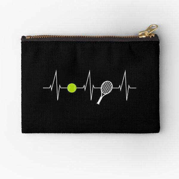 Tennis - tennis racket - tennis ball heartbeat heart rate - I love tennis Zipper Pouch