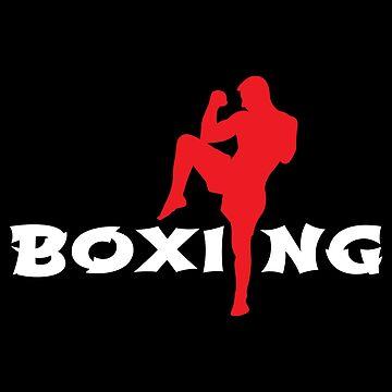 Boxing Man Knee Kick Martial Arts - Gift Idea by vicoli-shirts