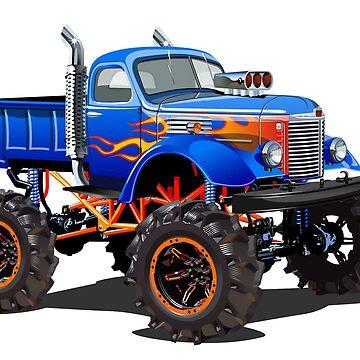 Cartoon Monster Truck by Mechanick