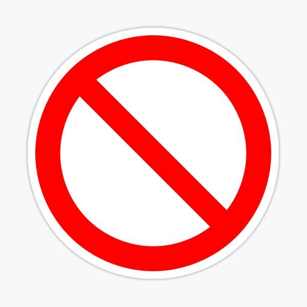 Ban Sticker