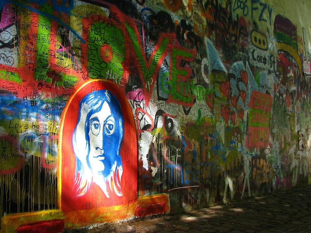 John Lennon in Prague by Christian Langenegger