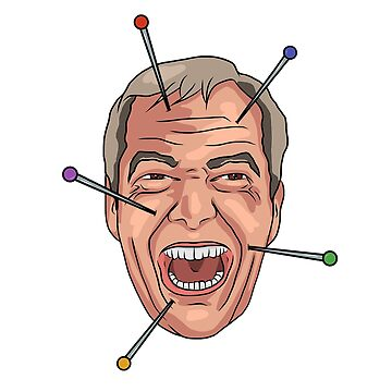 Nigel Farage Voodoo Doll Pin Illustration by MelancholyDoll