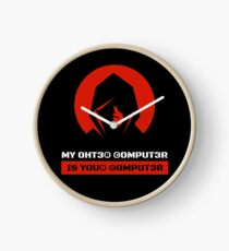 My computer is your computer - hacker shirt Clock