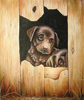 dog oil on canvas by Ray0023