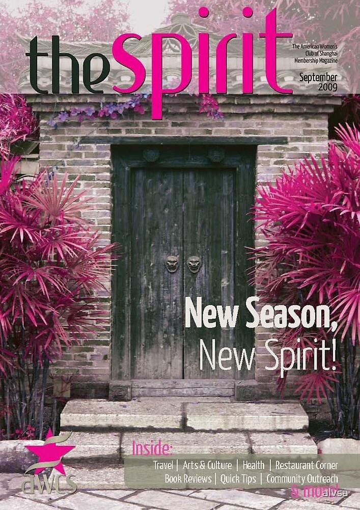 September AWCS Spirit Magazine Cover by alvsa