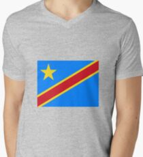 Flag of the Democratic Republic of the Congo Men's V-Neck T-Shirt