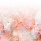 Frozen Pink and Gold Ombre Marble Pattern by Dominiquevari