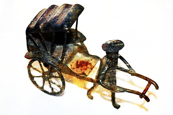 Man with Rusted Cart by Stephen Mitchell