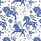 Delft Blue Horses  by Carly Watts
