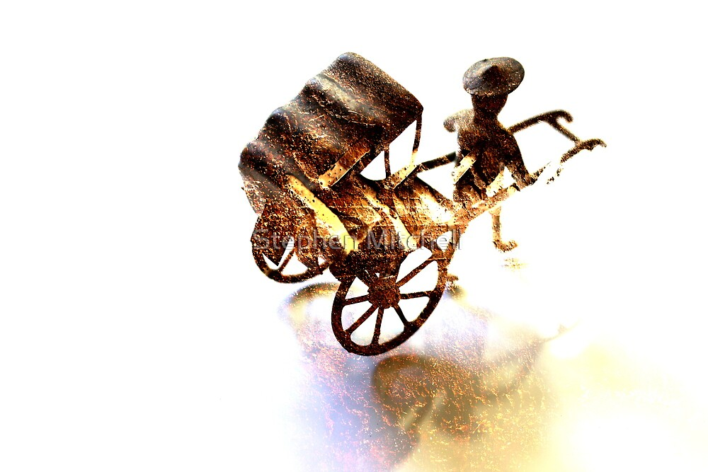 Man with Rusted Cart II by Stephen Mitchell