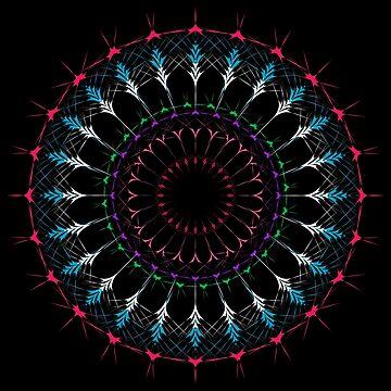 Bohemian Black Mandala hand drawn by amelislam