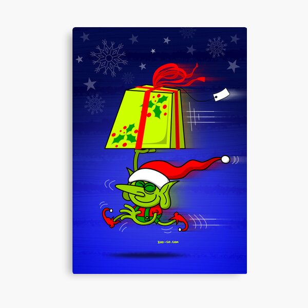 A Merry Christmas Gift from Santa's Elf Canvas Print