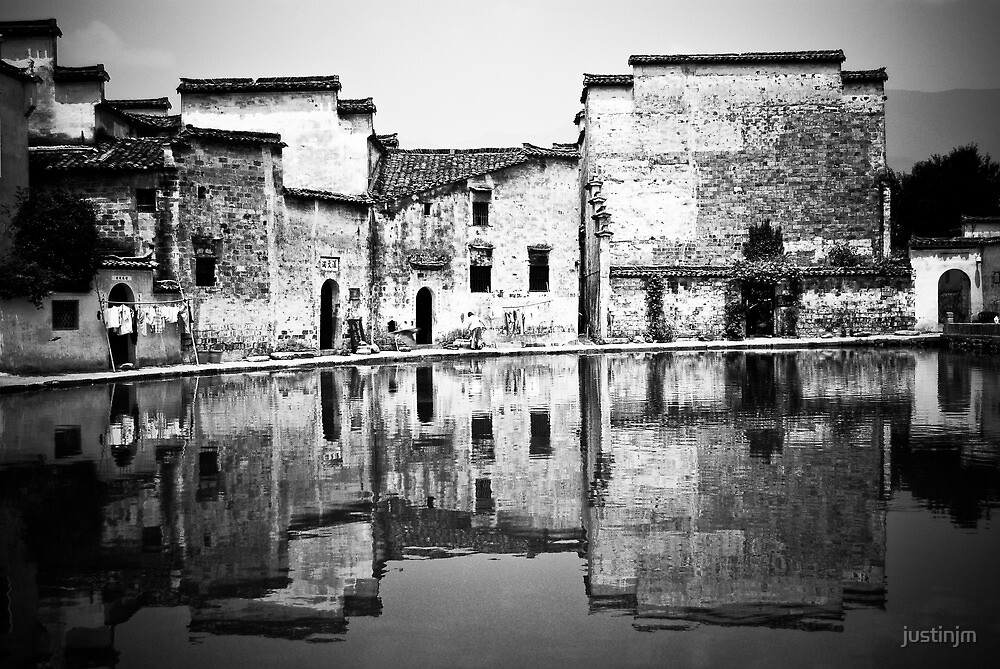 Water Town in Black & White 8 by justinjm