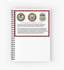 Domain seized by the US Department of Justice Spiral Notebook