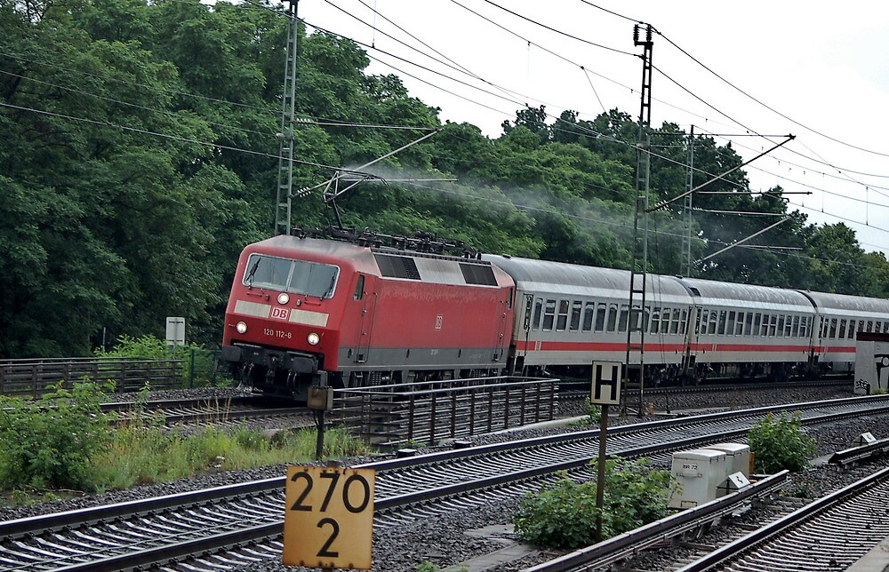 The railroad engine of the class 120 of German railways. by trainmaniac