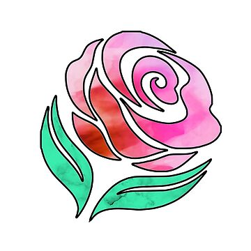 Pretty textured pink/green rose by MiaNotMaya