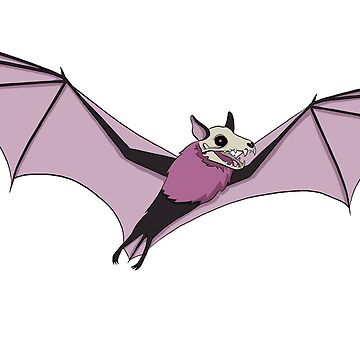 Skullbat Sticker by flailingmuse