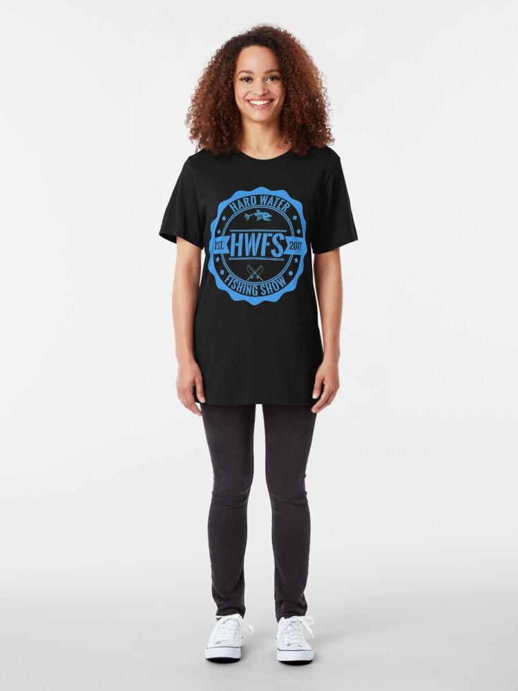 Alternate view of Hard Water Fishing Show - Merch Slim Fit T-Shirt