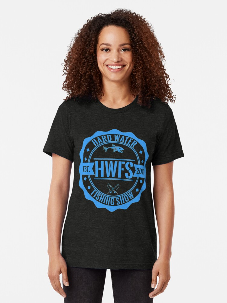 Alternate view of Hard Water Fishing Show - Merch Tri-blend T-Shirt