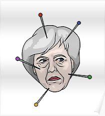 Theresa May Voodoo Doll Pin Illustration Poster