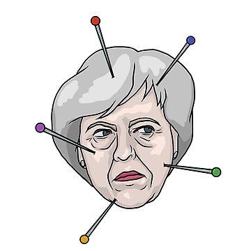 Theresa May Voodoo Doll Pin Illustration by MelancholyDoll