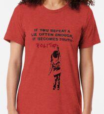 BANKSY Wenn man eine Lüge oft genug wiederholt, wird sie Politik Vintage T-Shirt