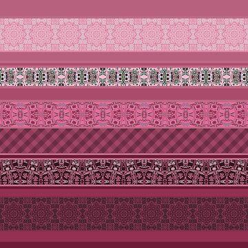 Pink raspberry patchwork 15 by fuzzyfox