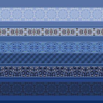 Blue striped patchwork by fuzzyfox